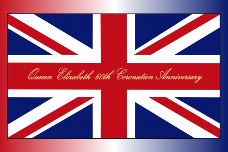 scotland flag: UK flag with coronation script