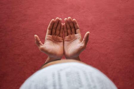Muslim man praying in mosque