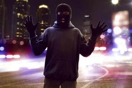 Masked thief caught