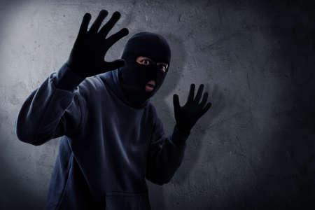 Masked thief caught Reklamní fotografie