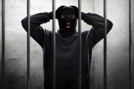 Masked thief in prison