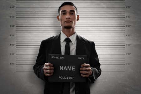 Mugshot of criminal Foto de archivo