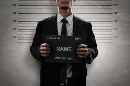 Mugshot of criminal Stock fotó