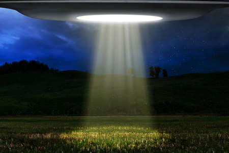 Ufo flying at night