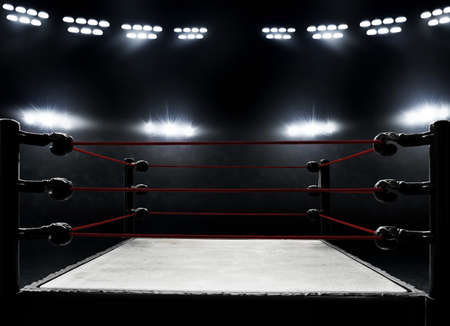 Professional boxing ring Banque d'images