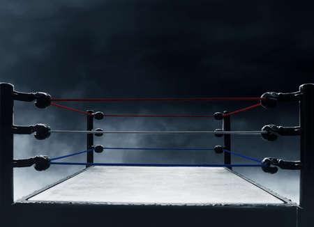 Professional boxing ring Archivio Fotografico
