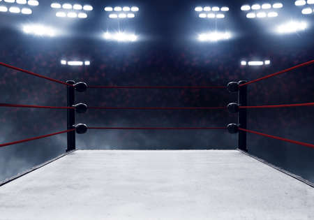 Professional boxing ring Stockfoto