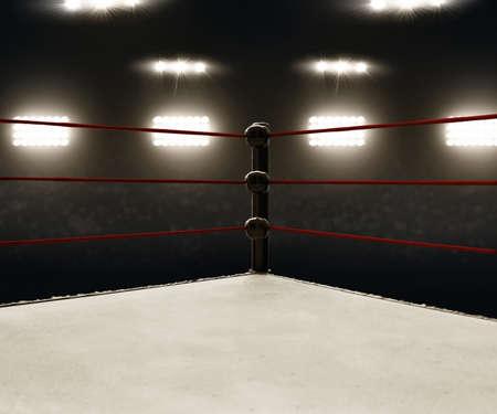 Professional boxing ring Stockfoto