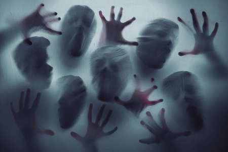 Screaming ghost faces