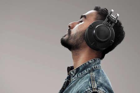 Man listening music