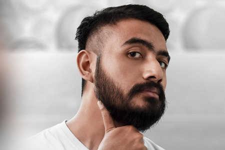 Portrait of handsome bearded man Imagens