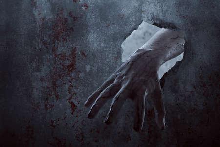 Bloody zombie hand, halooween theme