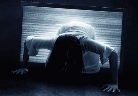 Scary ghost woman, halloween theme Reklamní fotografie