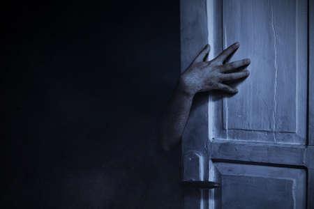 Scary zombie hand, halloween theme Reklamní fotografie