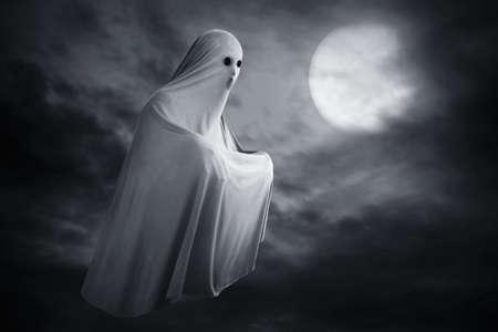 Scary ghost on dark background Reklamní fotografie
