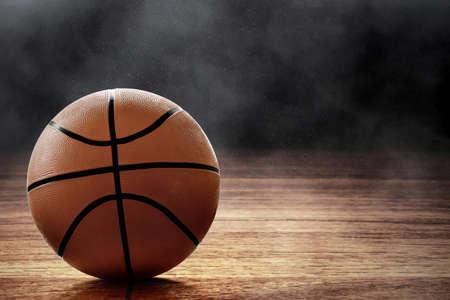 Basketball ball on black background