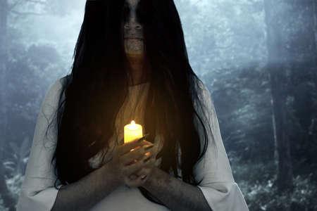 Scary ghost face, halloween theme 免版税图像