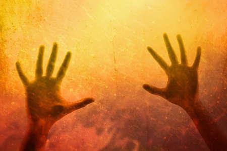 Shadow of hands, halloween theme
