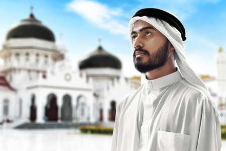 Portrait of young arab man