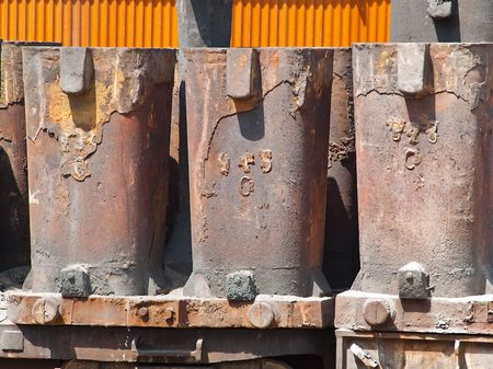 Steel mould as a part of a metallurgical plant photo