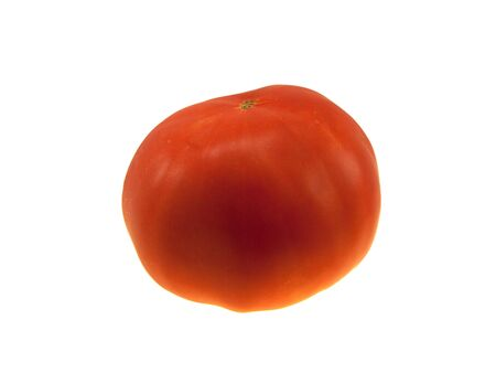 Red juicy tomato isolated on a white background photo