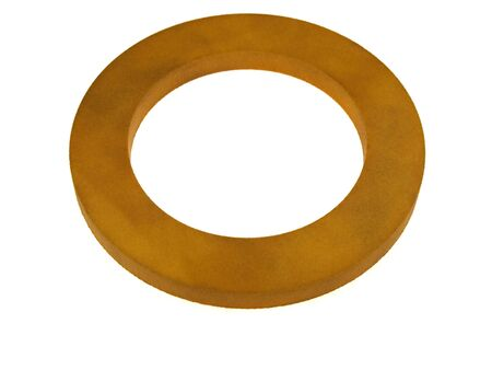 rubber ring: Orange rubber ring isolated on a white background