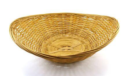 Wattled basket isolated on a white background photo
