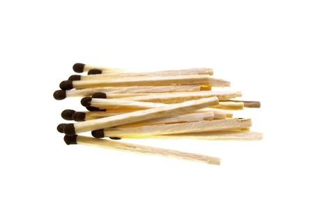 Some wooden matches isolated on a white background photo