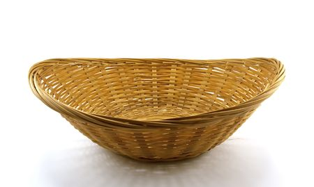 Brown wattled basket isolated on a white background Stock Photo - 5750141
