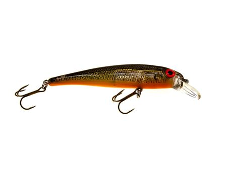 rapala: Grey red fishing wobbler isolated on a white background