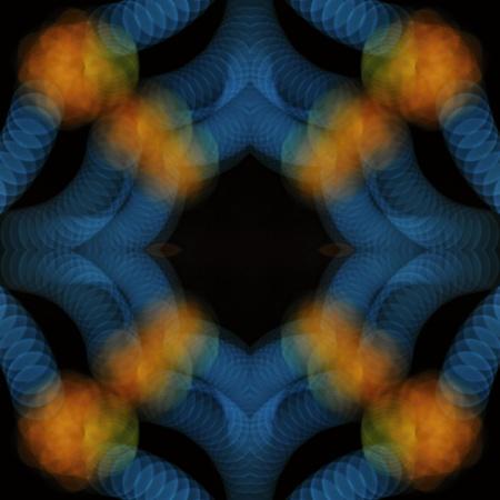 night lights: Night lights mandala, symetric abstract background Stock Photo