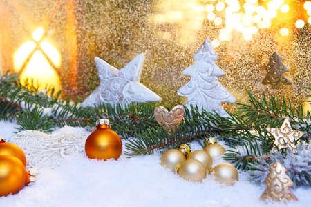 クリスマスの時間での装飾 写真素材