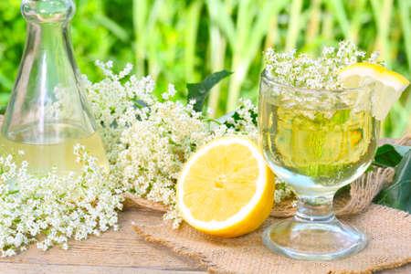 liqueur labels: Elderflower syrup