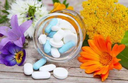 Naturopathy, medicinal herbs  Stock Photo - 21697191
