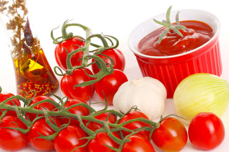 make a paste: Pesto rosso Stock Photo