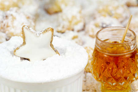 Cinnamon star and honey photo