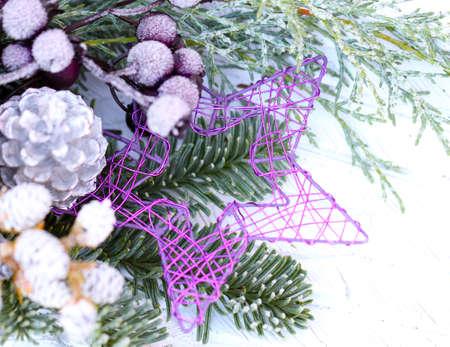 floristry: Advent floristry, floristry grave Stock Photo