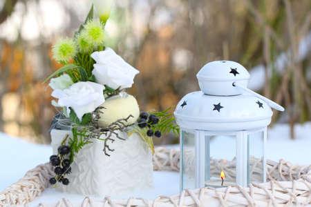 flowerpower: Winter decoration in white
