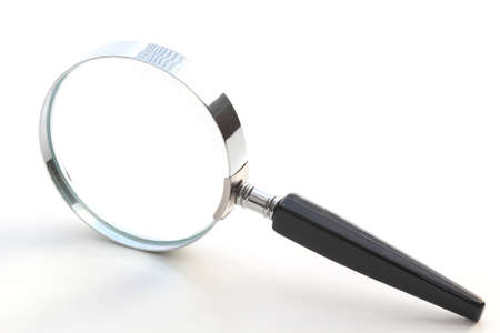 Isolated magnifying glass Stockfoto