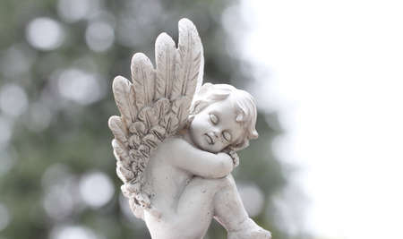 angel de la guarda: Tarjeta del ángel Foto de archivo