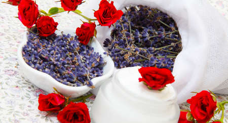 sachets: Roses and lavender