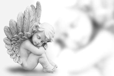 guardian angel: Dreaming Angel Stock Photo