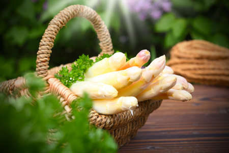 asparagus basket photo