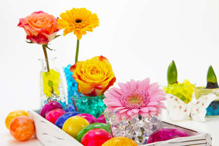 Beautiful easter decorations photo