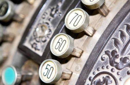 caja registradora: Caja registradora, de cerca