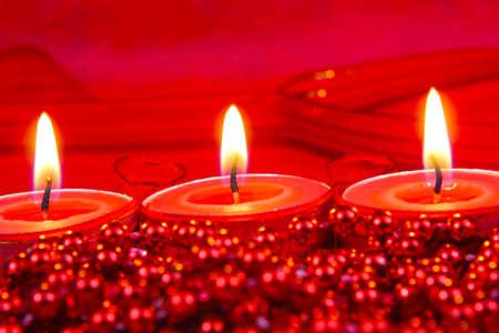 Red Christmas decoration Stockfoto