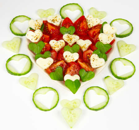 gouged: hearted salad