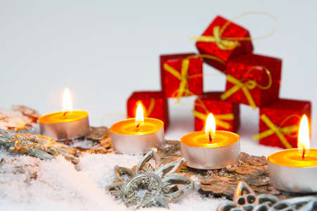 Christmas decoration with gift package photo