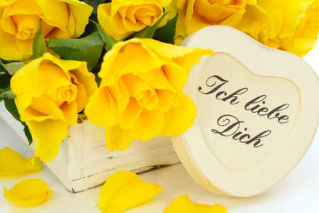 Yellow roses say I love you photo