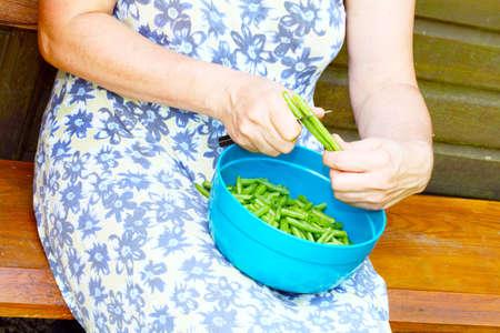 snip: Snip beans Stock Photo